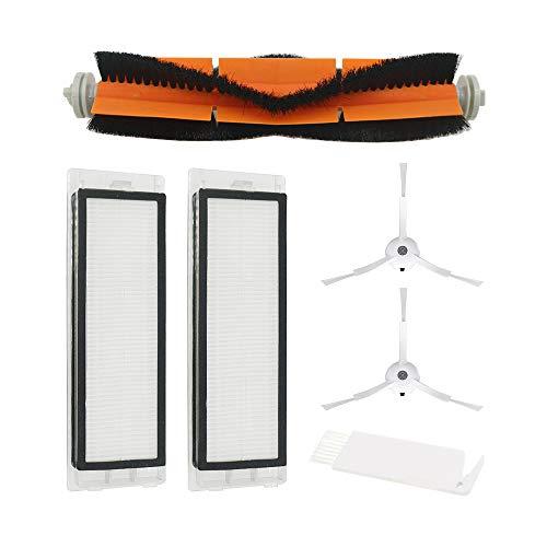WuYan 2 Filtro HEPA + 2 Spazzola Laterale + 1 Pennello Principale per Xiaomi Mi Robot Vacuum S50 S51 Aspirapolvere Accessori Accessori