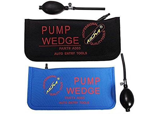 2 Pcs Air Wedge Alignment Tool Inflatable Shim Tool Sets ( Blue+Black)