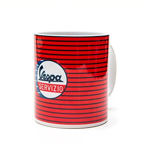 Vespa VPCE38 Kaffeetasse SERVIZIO Rot Fein Gestreift