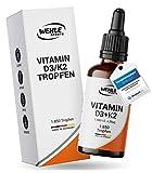 Vitamin D3 K2 Tropfen 1850 Tropfen 50ml - Premium: 99% All-Trans...
