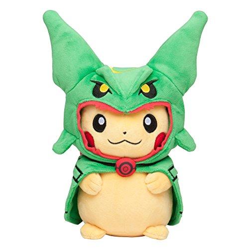 "Pokemon Center Tokyo Sky Tree Town Poncho Pikachu Rayquaza 9"" Plush Mascot Stuffed Doll"