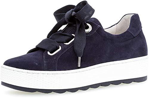 Gabor Damen Sneaker, Frauen Low-Top Sneaker,Comfort-Mehrweite,Optifit- Wechselfußbett, strassenschuh schnürer schnürschuh,Bluette,37.5 EU / 4.5 UK