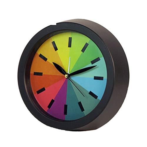 TQJ Despertadores Digitales Niño de la Alarma del Reloj silencioso Luminoso del pequeño Despertador del Color del Arco Iris Mini Alarma de Viaje Reloj Despertador Habitación Sala de Noche Despertador