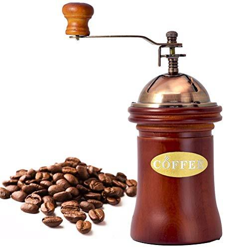 Yuciya Manuelle Kaffeemühle, Vintage Kaffeemühle Keramikkern Tragbare Handkurbel für Zuhause, Im Büro und Auf Reisen