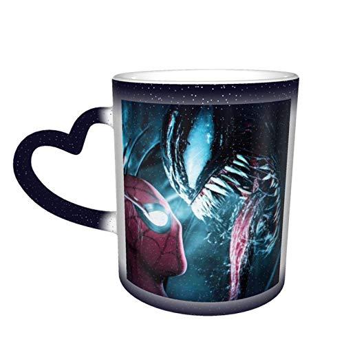 Magische wärmeempfindliche Farbwechsel-Tasse, wenn es Venom trifft Design, Farbwechsel-Tassen, Teetassen für Frauen, Männer, Jungen, Mädchen, blau