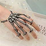 Meiyamyum Wristband Skull Fingers, Metal Skeleton Hand Bracelet, Skull Fingers Metal Skeleton...