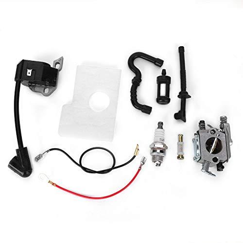 Kit de carburador - Kit de filtro de aire de encendedor de carburador apto para piezas de motosierra STIHL 017018 MS170 MS180