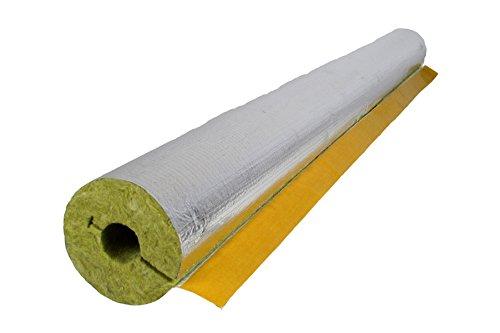 Rauchrohrisolierung Steinwolle alukaschiert 120 x 30 mm Kaminrohrschale