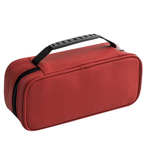 wyxhkj-Sac de rangement Voyage Cosmétique Maquillage Trousse De Toilette Wash Organizer Storage Pouch Hanging Bag Sac cosmétique imperméable facile à transporter (rouge)