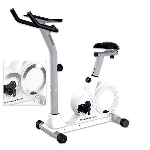 Elípticas Bicicleta de Spinning en Silencio Inicio de Equipos de Fitness Bicicletas Indoor Bicicleta de Ejercicio Paso a Paso controlado magnéticamente (Color : Blanco, Size : 112.5 * 50 * 119.5cm)
