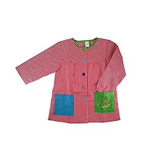 Kiz Kiz Bata Escolar Infantil Multicolor Baby Infantil de Cuadros - (2-3 años, Rojo)