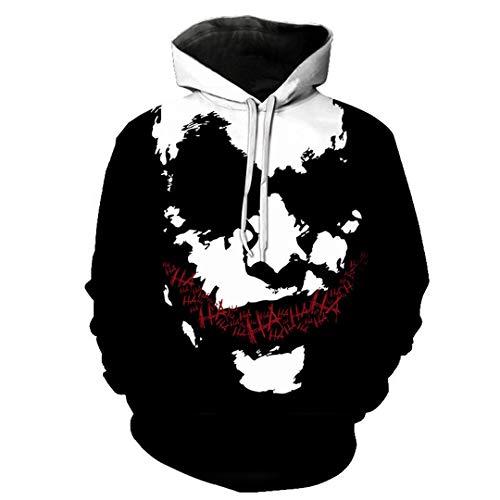 TossenHieos Haha Joker 3D Print Sweatshirt Hoodies Lustiges Herbst Streetwear Hoodies Sweatshirt 038 XXL