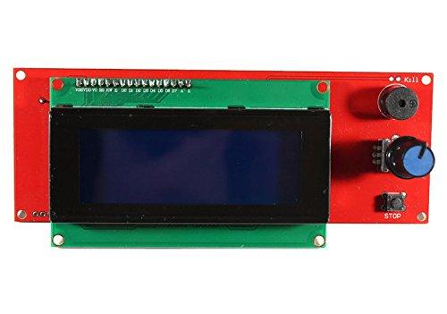 Paradisetronic Kit de Pantalla con 2004 Controlador LCD y líneas, Conector y Adaptador para RAMPS 1.4, 3D Impresora, Prusa Mendel