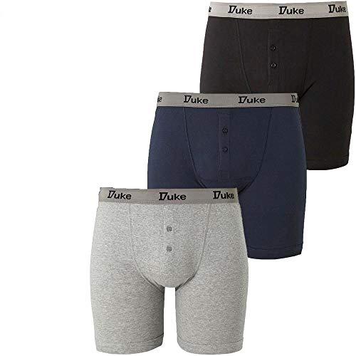 Fashion Duke of London Herren Boxershorts aus Baumwolle, Größe S-5XL, 3 Stück - - 4X-Large