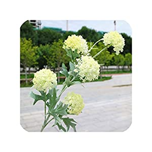 NA 7 Heads Artificial Hydrangea Ball Flowers White Snowball Flores Home Party Wedding Decor Christmas Fall Decorations Fake Flower