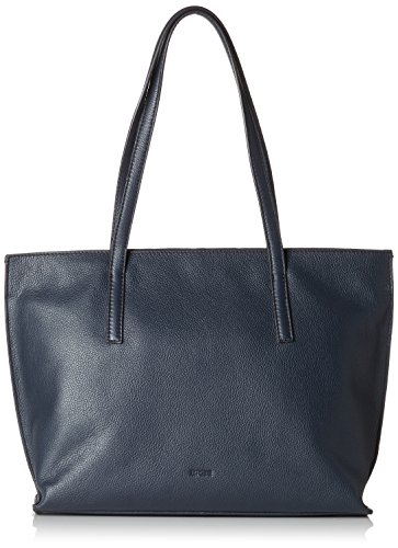 BREE Collection Damen Cary 5, Tote S Henkeltasche, Blau (Navy), 11.5x27x33 cm