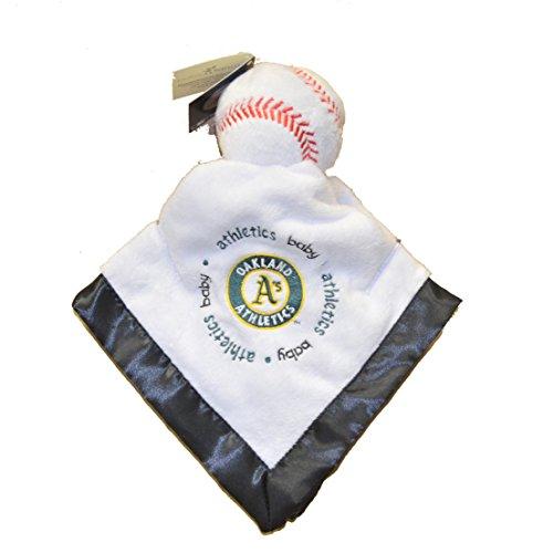 Oakland Athletics As Black Trim Baby Security Snuggle Bear Blanket - 14