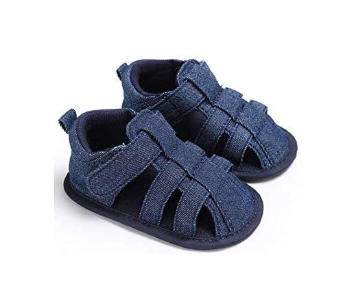 Geagodelia Sandalias Para Niños Bonitos Bebés Lona Suela Suave Zuecos Para Cuna Zapatillas Sandalias Huecas Para Bebés Pequeños Zapatos (Azul Navy, 6-12 meses)