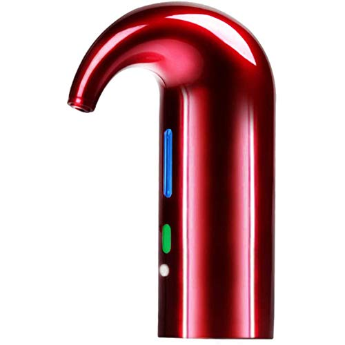 Aeratore Elettrico per Vino, Decanter e dosatore per Vino Rosso e Bianco, Ricaricabile, Adatto alla Maggior Parte delle Bottiglie, Ricarica USB,Rosso