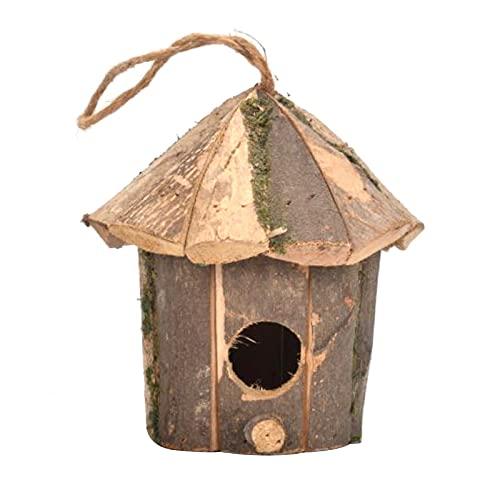 Tianxiu Casa di Colibrì in Erba Tessuta A Mano - Capanna per Uccelli Appesa all'Esterno Dell'erba...