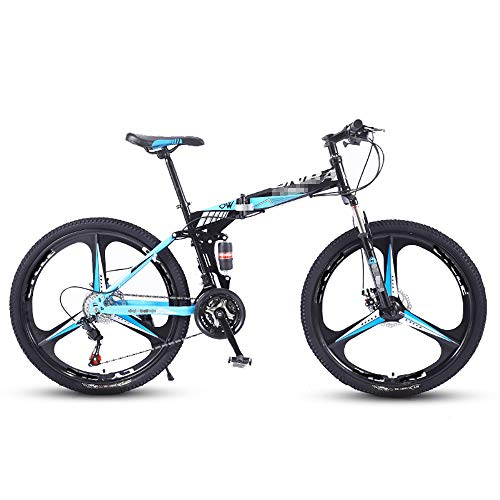 Mountain Bikes 21-Speed Foldable, Variable Speed Cross-Country Bikes, Single-Wheel Double Shock-Absorbing Bikes, Suitable for Wastelands, Roads, Cities, Multiple Sizes