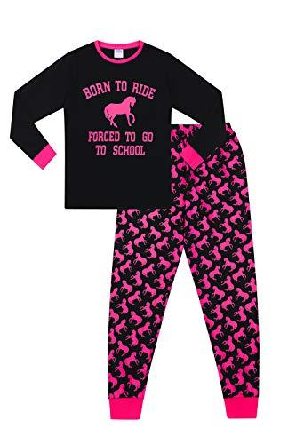 ThePyjamaFactory Pijama de niña Born to Ride Forced to Go to School de 9 a 16 años