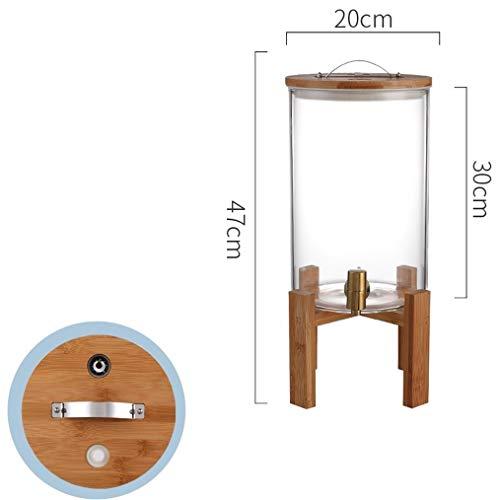 HXPP Everage Behälterglas, große Kapazitäts-Hahn-heiße und kalte Wasser-Flasche Saft Transparent Glas Haushalt Trinken Bucket Restaurant (Color : Copper Faucet, Size : 8L)