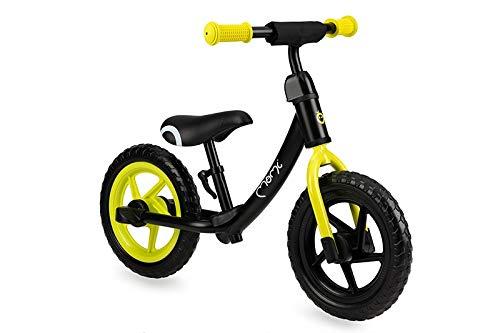 MOMI ROSS balance bike Steed per ragazzi e ragazze | Ruote in schiuma antiforatura | Robusti telai in metallo | Sella e manubrio regolabili in altezza con Quick Release, peso 3 kg