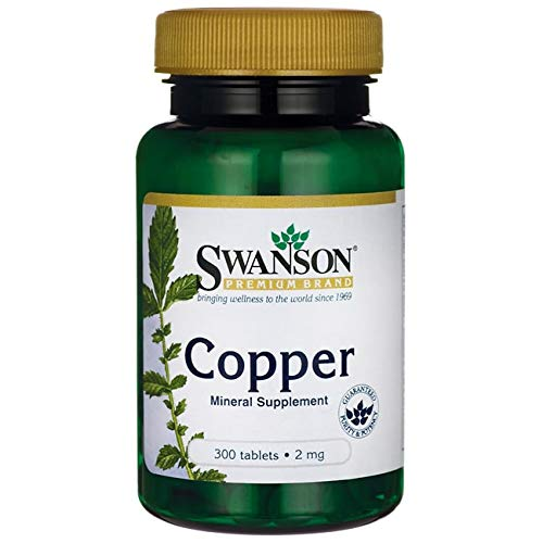 Swanson Copper Antioxidant Immune System Red Blood Cell Support Mineral Supplement (Copper chelate) 2 mg 300 Tabs