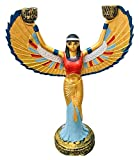 Escultura de escritorio Escultura de velas egipcias, ISIS Modelo Estatua Pintura Egipcia Diosa Hecho A Mano Estatua Handicraft Recogimiento de recolección