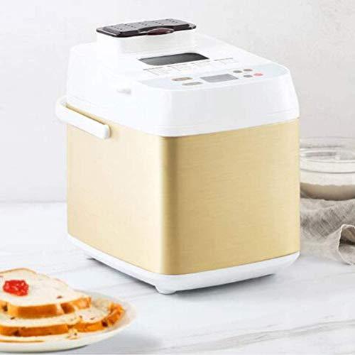WLMGWRXB Máquina de Pan, Panera Digital Creador de pan automático Maker Máquina para hacer en casa Máquina para el pan 19 Menu sin gluten del trigo entero de acero inoxidable Máquina para el pan