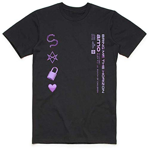 Bring Me The Horizon Herren Amo Symbols T-Shirt, Schwarz (Black Black), X-Large