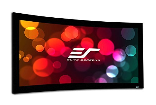 Elite Screens Lunette 2 Series, 138-inch Diagonal 2.35:1, Curved Home Theater Fixed Frame Projector Screen, CURVE235-138W2