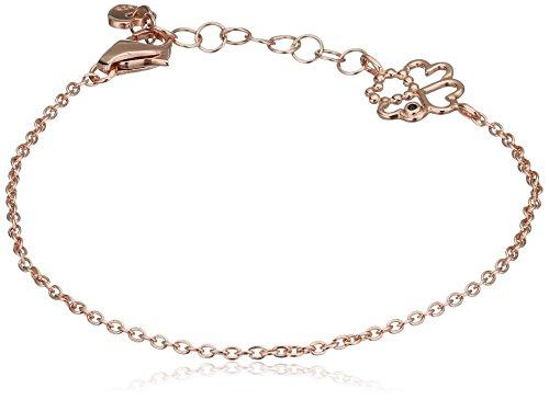 caï love Damen-Armband We Love: Luck Infinity & Stars 925 Silber rose vergoldet Spinell schwarz - C7079B/90/L6/15+3