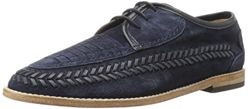 H by Hudson Men's Anfa Suede Oxford, Navy, 9 M US