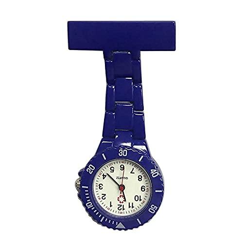 Enfermera colorida con reloj de bolsillo de cuarzo de los hombres clips de reloj en un reloj colgante estilo de bolsillo reloj alfabeto, mesa de cuidado de reloj rosa