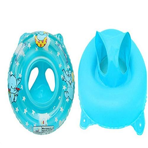 NOLOGO Js-mlq Babyschwimmen Ring aufblasbaren Ring Schwimmer Kind Kissen Schwimmer niedlichen Accessoires Schwimmbad Elefant Muster Spielzeug (Farbe : Blue)