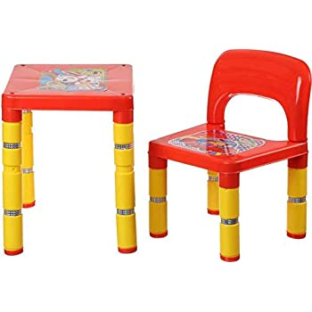 Buy Mdn Portable Kids Chairs And Table Set Of Plastic Red Online At Low Prices In India Amazon In