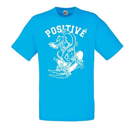 lepni.me Männer T-Shirt Positiv - Skateboard-Kleidung, für Skater, lustige Skateboarding, Coole Straße Geschenk (Small Blau Mehrfarben)