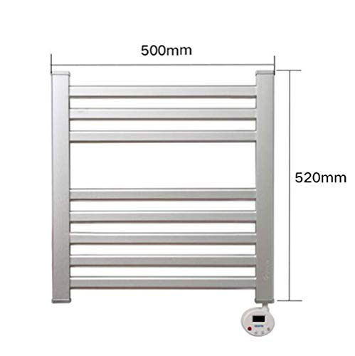 Toallero eléctrico con calentador eléctrico para radiador, montaje en pared, soporte de secado, termostático, 50 x 46 cm, 150 W, Detazhi manual