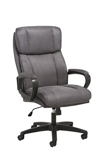OFM ESS Collection Plush High-Back Microfiber Office Chair, in Gray (ESS-3081-GRY)