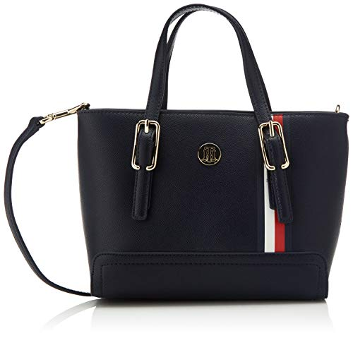 Tommy Hilfiger Damen Honey Small Tote, Blau (Sky Captain), 24cm x 9.5cm x 17cm
