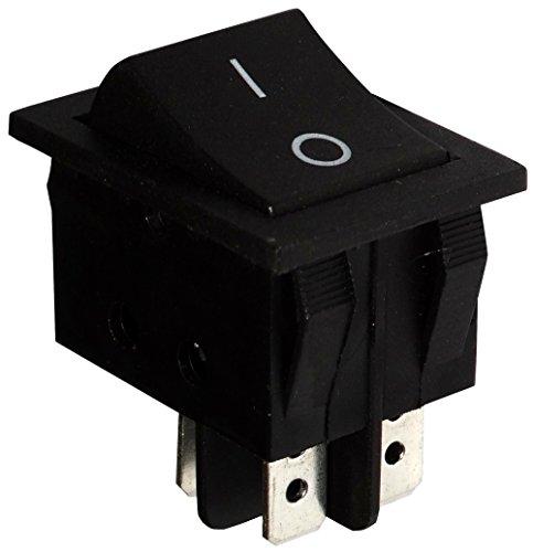 Aerzetix: Knopfschalter Switch Kippschalter Druckschalter DPST ON-OFF 15A/250V Schwarz 2 Positionen
