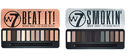 W7 Beat It Natural Nudes & Smokin' Shades Eyeshadow Palette Set