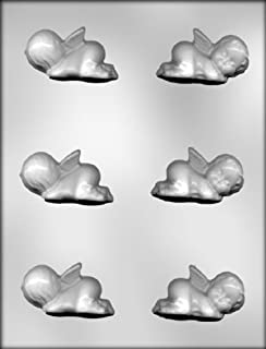 CK Products 2-1/2-Inch 3-D Sleeping Angel Baby Chocolate Mold