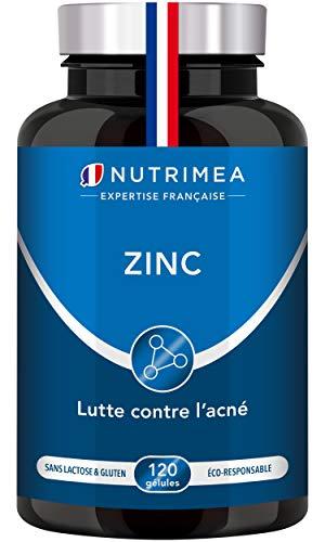 ZINC Citrate - Traitement de l'acné - Soutient le système immunitaire - 120 gélules végétales apportant 12.5 mg de Zinc élément (Zn) – Haute absorption – Fabriqué en France