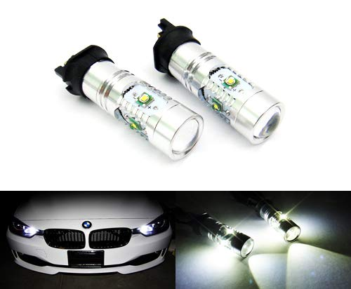 Lot de 2 ampoules LED RZG PW24W PWY24W pour feux de position, feux de circulation diurnes DRL pour A3 A4 Q3 F30 C4 208 Golf VII