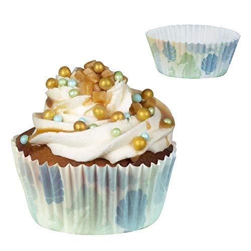 Boland 51009 - Cupcake Formen Meerjungfrau, 50 Stück, Durchmesser 6,5 cm, Papier, Muffin Formen, Fingerfood, Backformen, Partygeschirr, Geburtstag, Motto Party, Karneval