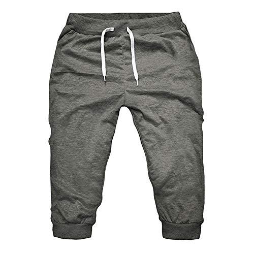 YUFUFU Pantalones Cortos Summer Men Gym Workout Jogging Shorts Pantalones Fit Elastic Casual Sportswear Short Pants Men Pants Joggers, Deep Grey, XXXL