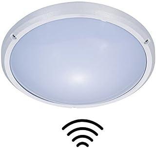 ZEYUN 16W Redondo Lámpara de techo moderna con sensor de movimiento de microonda, para Exterior y Interior, 4000K, 1150LM,...